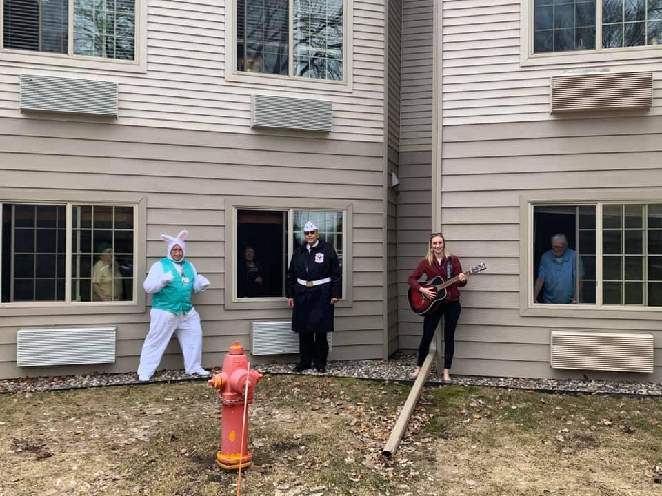 Easter Bunny surprises seniors